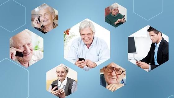 Senioren stellen andereAnforderungen an Mobiltelefone als die jüngere Generation.