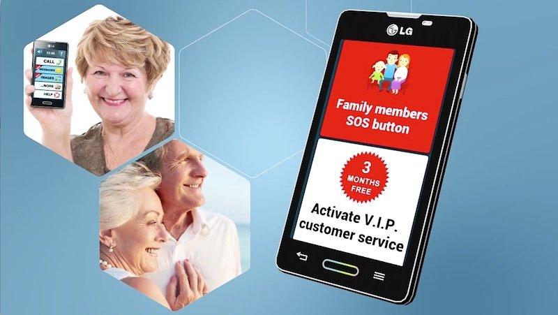 Mit einem Knopfdruck kann ein Senior in Not sofort Familienmitglieder informieren, wenn er Hilfe benötigt.