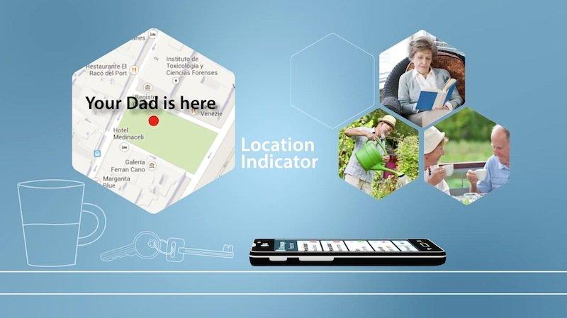 Beruhigend für die Familienangehörigen: Sie können den Standort des Seniors abfragen.