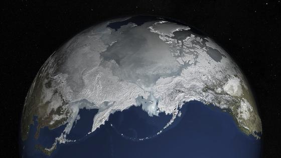 Arktisches Meereis: Ein Bild vom 25. Februar 2015 – da hat es seinen Höhepunkt erreicht.