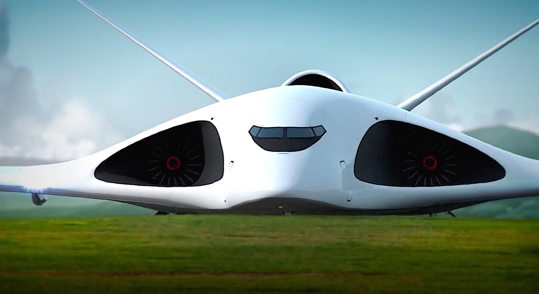 Neben der Gasturbine am Heck soll der neue Überschallflieger zwei seitliche Turbinen erhalten. Die Kombination soll das Geschoss auf 2000 km/h beschleunigen.