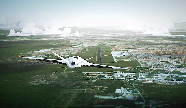 Lenken lässt sich der futuristische Riesenvogel durch gezieltes Richten des Abgasstrahls.
