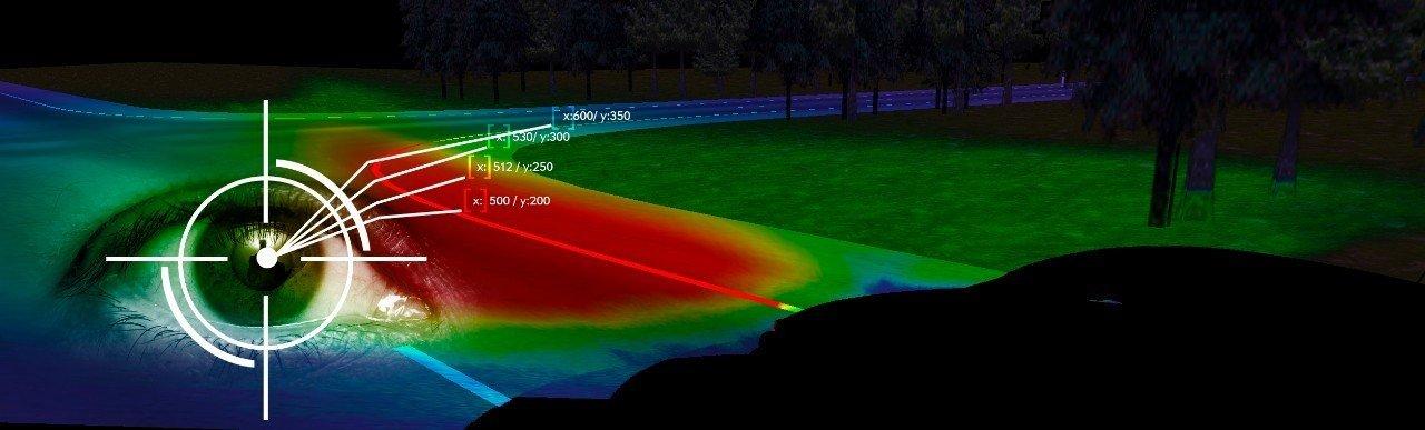 Zum Eye-Tracking-System gehört eine Kamera, die die Augenbewegungen des Fahrers mehr als 50 Mal in der Sekunde scannt.