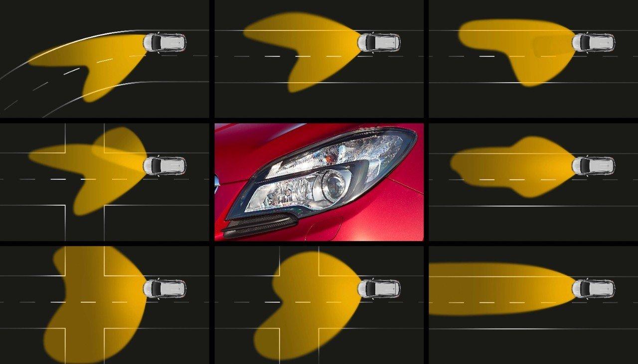Passen sich an jede Straßen-, Wetter- und Fahrsituation an: Vauxhall Mokka's AFL+ xenon Scheinwerfer.