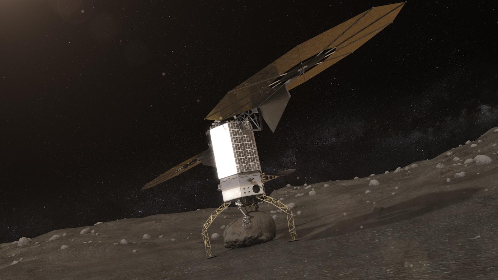 Eine NASA-Sonde fängt den Gesteinsbrocken eines Asteroiden ein und bugsiert ihn in eine Umlaufbahn des Mondes.
