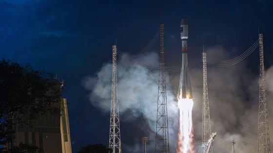 Am 27. März 2015 starteten die neuen Galileo-Satelliten Adam und Anastasia mit einer russischen Sojus-Rakete ins All.