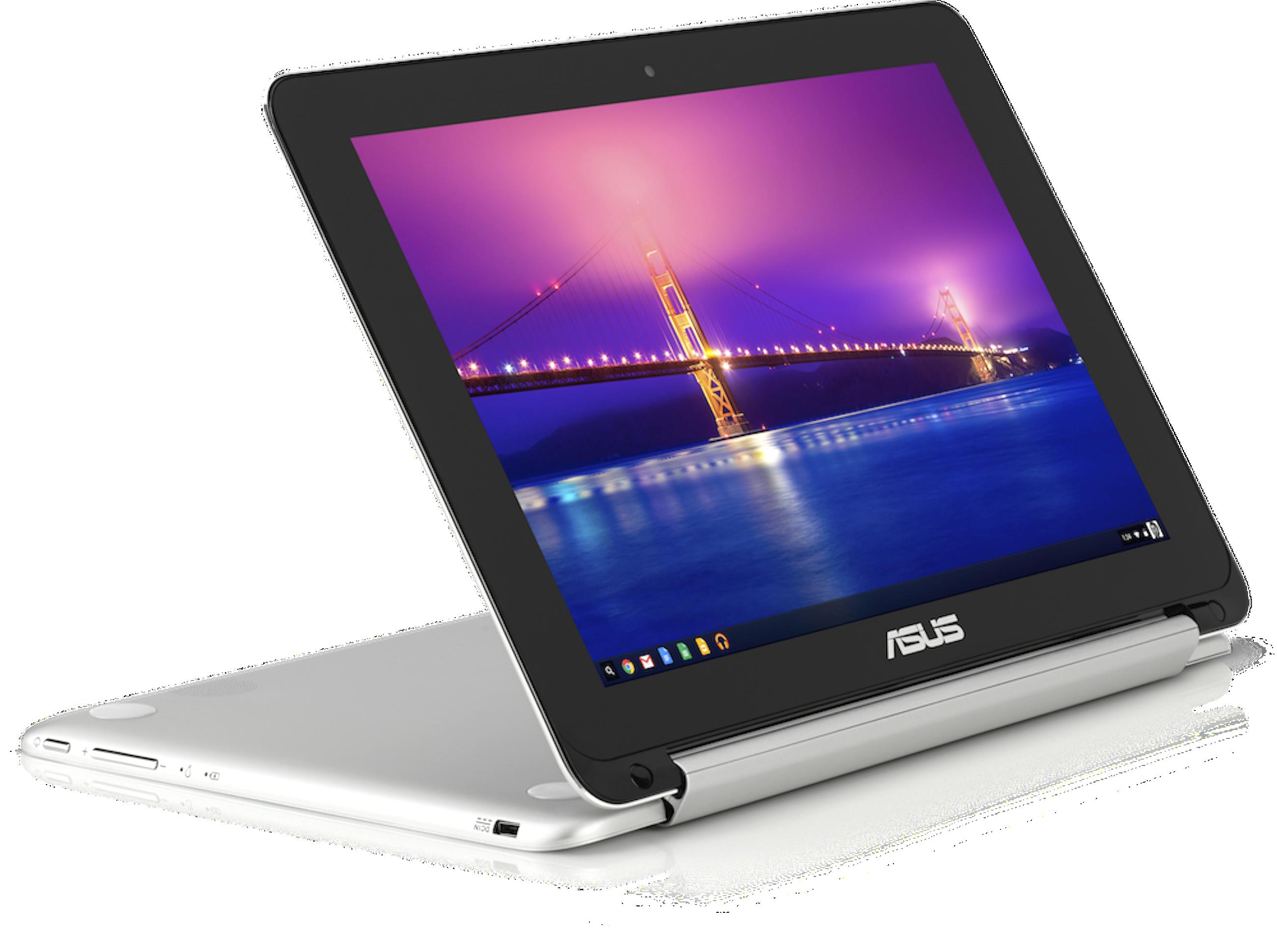 Das Chromebook Flip von Asus kann als Tablet und Notebook genutzt werden, die Tastatur ist nach hinten wegklappbar.