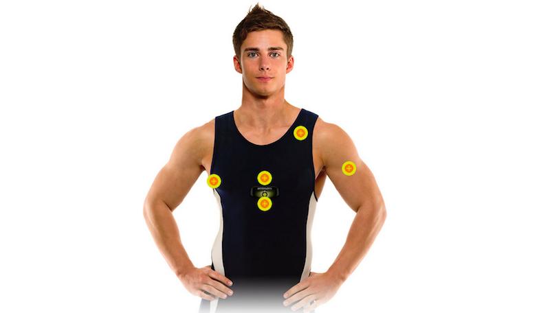 Das Fitness-T-Shirt des Mainzer Unternehmens Ambiotex überwacht die Vitalfunktionen des Sportlers und sendet sie an sein Smartphone.