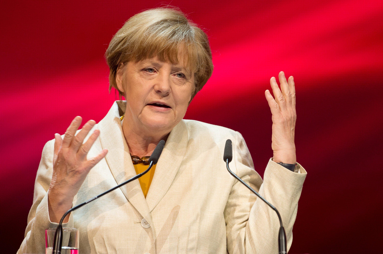 """""""Wir müssen uns jeden Tag ändern"""", sagte Bundeskanzlerin Angela Merkel während ihrer Eröffnungsrede. Sie fordert mehr Tempo bei der Digitalisierung."""