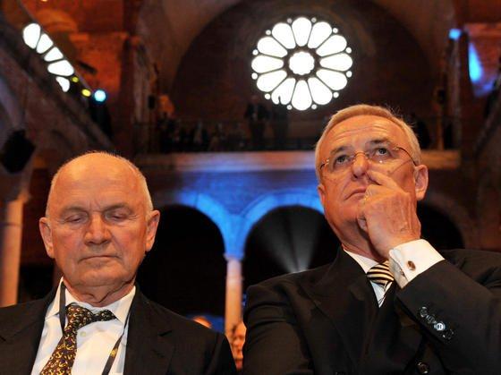 Bislang auf einer Linie, jetzt im Streit: VW-Aufsichtsratschef Ferdinand Piëch (l.) und VW-Konzernchef Martin Winterkorn.