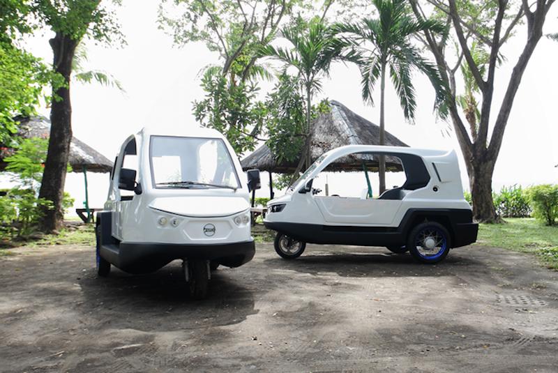 Das Dreirad Salamander gibt es mit Benzinmotor und Elektroantrieb.