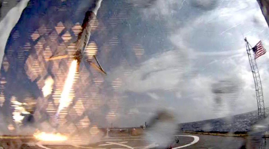 Die Falcon9-Rakete hatte zu viel Tempo, so dass sie nach der Landung in Schieflage geriet und umstürzte.