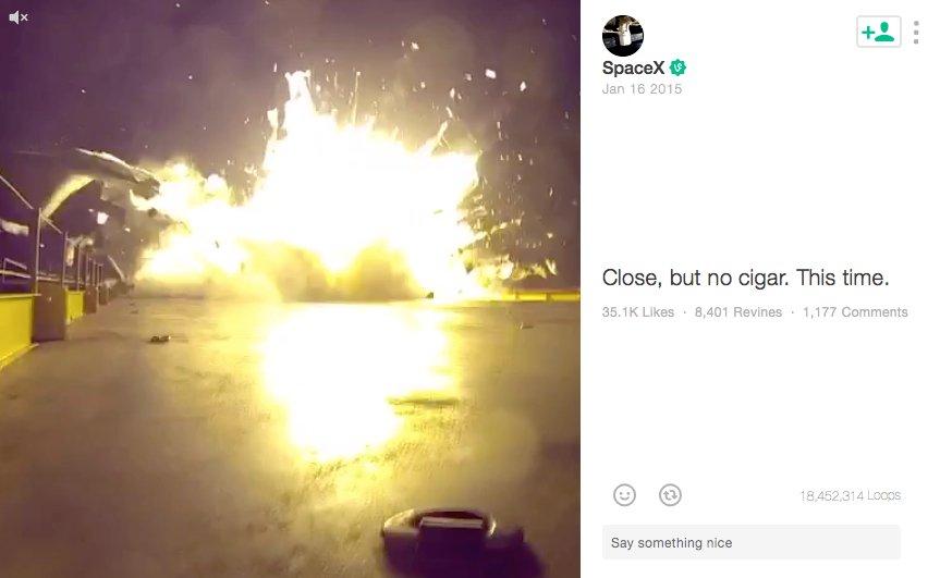 Auch am 16. Januar 2015 war schon eine Raketenlandung missglückt.