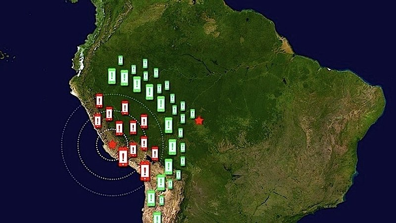 Das Erdbeben-FrühwarnsystemShakeAlert soll jetzt an der chilenischen Küste erprobt werden.