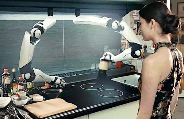 Ist der Robo-Chef im Einsatz, kann die Gastgeberin künftig ganz entspannt auf den Besucher warten. Und sich aufs Essen freuen.