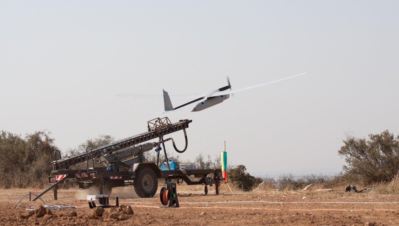 Skylark beim Start: Israel nutzte die Drohne bei Kämpfen mit den Palästinensern im Gaza-Gebiet 2014.