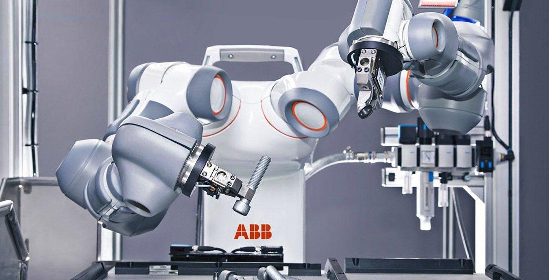 Yumi bei der Arbeit. Die Hannover Messe hatte den Roboter für den Technologiepreis Hermes Award nominiert.
