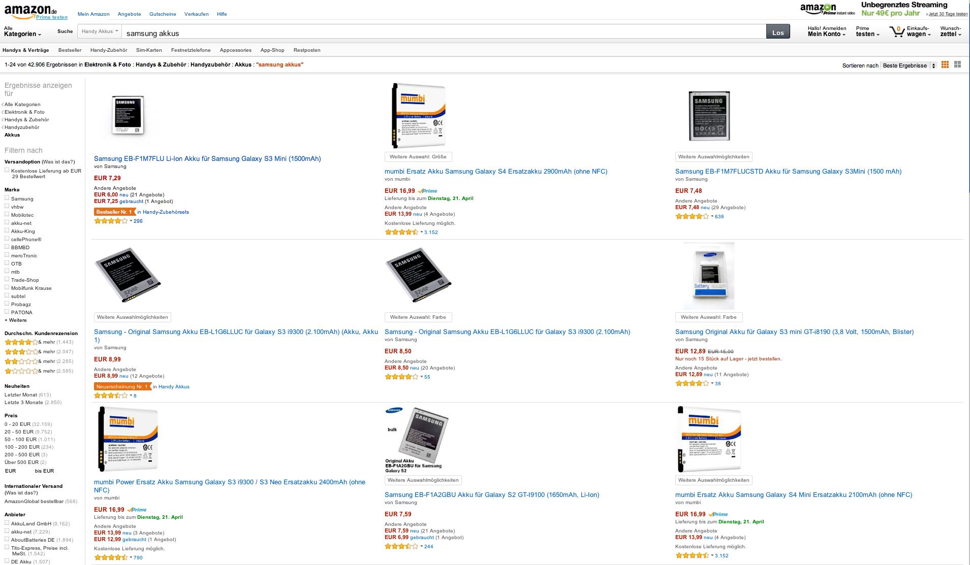 Wer bei Amazon einen Akku für sein Samsung-Smartphone bestellt, wird mit großer Wahrscheinlichkeit eine Fälschung zugeschickt bekommen. Das Computermagazin c't hat zwölf Akkus bestellt – alle zwölf waren gefälscht.