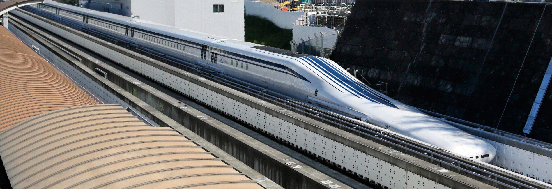 Japans Magnetschwebezug Maglev soll in zwölf Jahren die 350 Kilometer Distanz zwischen der japanischen Hauptstadt und der Industriestadt Nagoya in nur 40 Minuten zurücklegen.