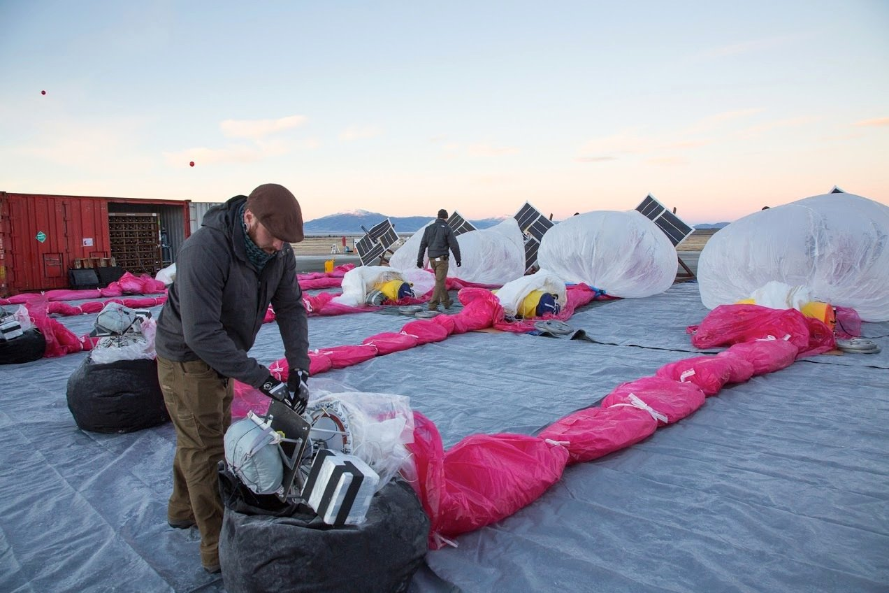 Testreihe mit Googles Stratosphärenballons: In Kürze will Google mit dem Aufbau eines weltweiten Funknetzes beginnen.