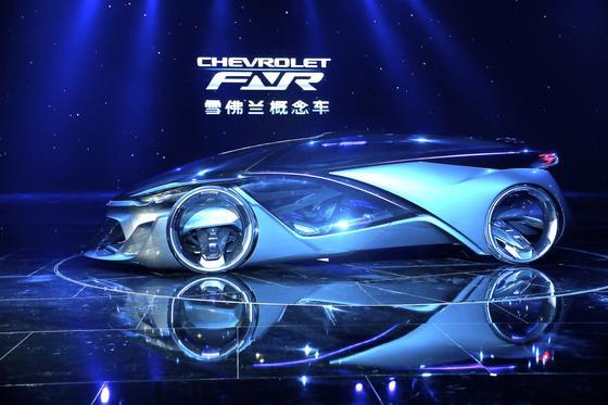 Der Chevrolet FNR auf der Shanghai Auto Show: So stellt sich General Motors das autonome Fahren der Zukunft vor. Foto: GM