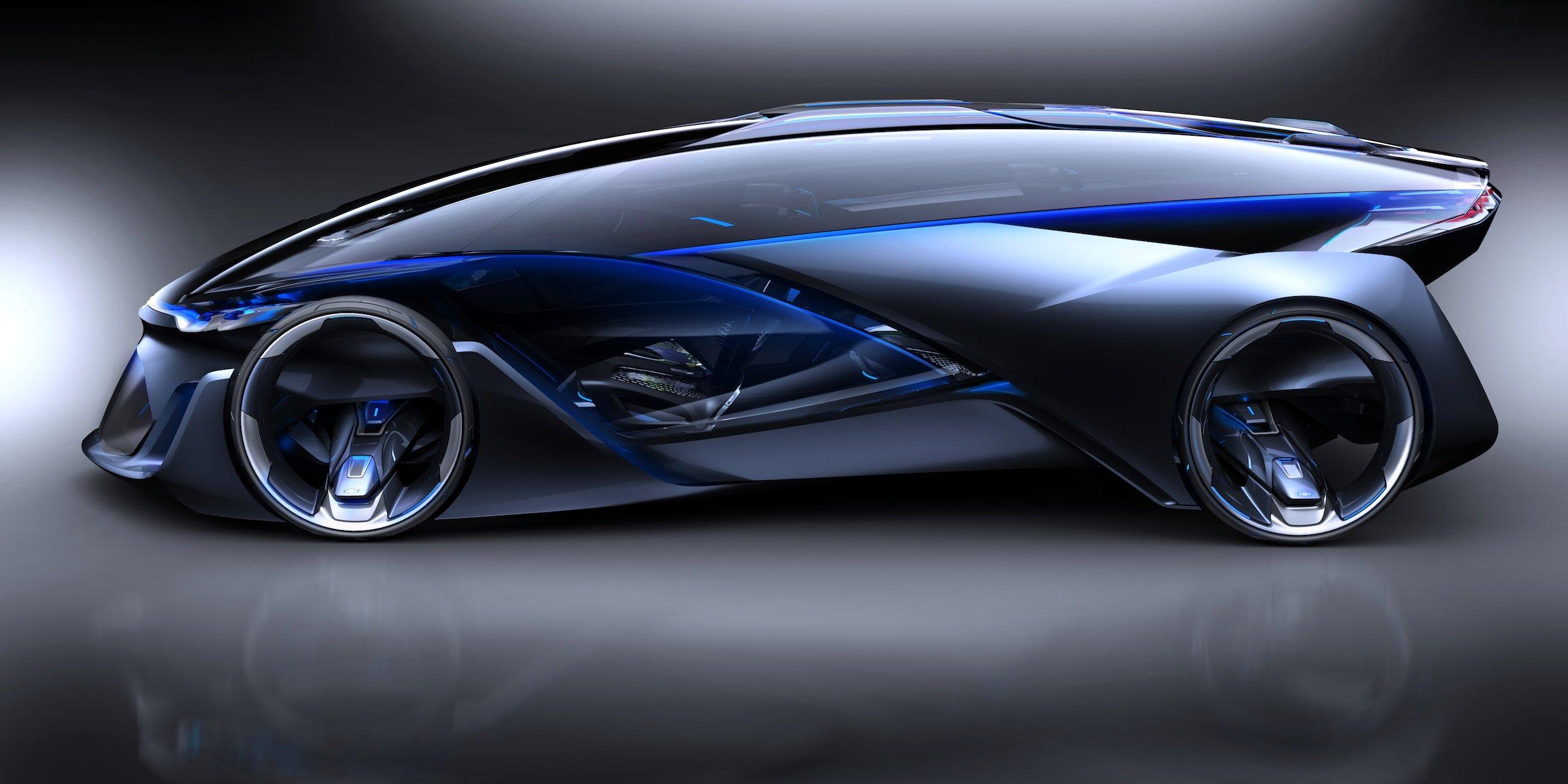 Seitenansicht des Chevrolet FNR: Das Auto kann vollkommen autonom fahren.
