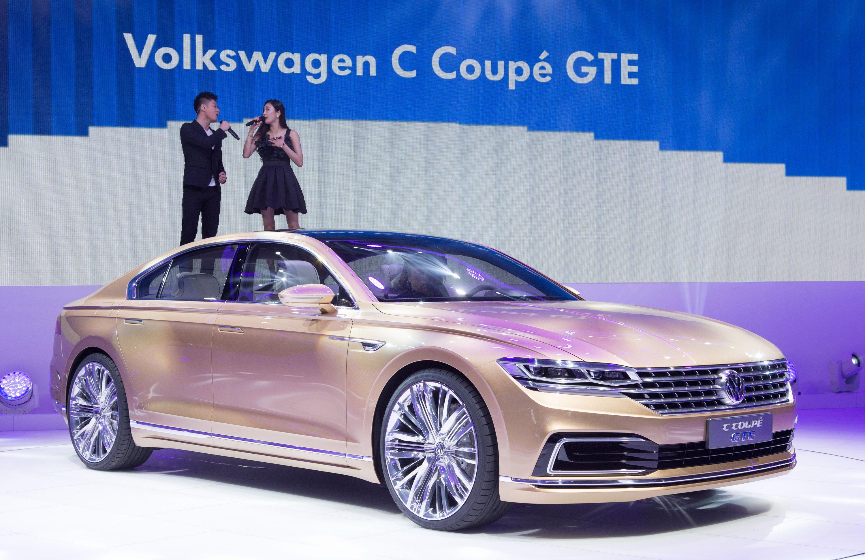 Der neue Volkswagen C Coupé GTE auf der Shanghai Auto Show bietet schon einen Ausblick auf den nächsten Phaeton.