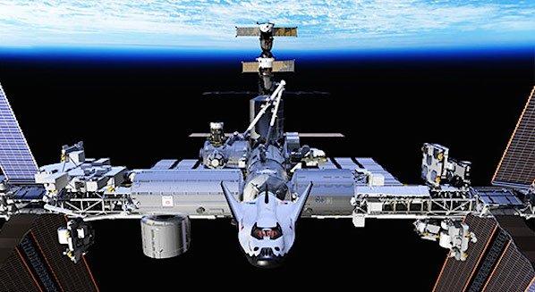 Der Raumgleiter Dream Chaser kann an die ISS andocken.