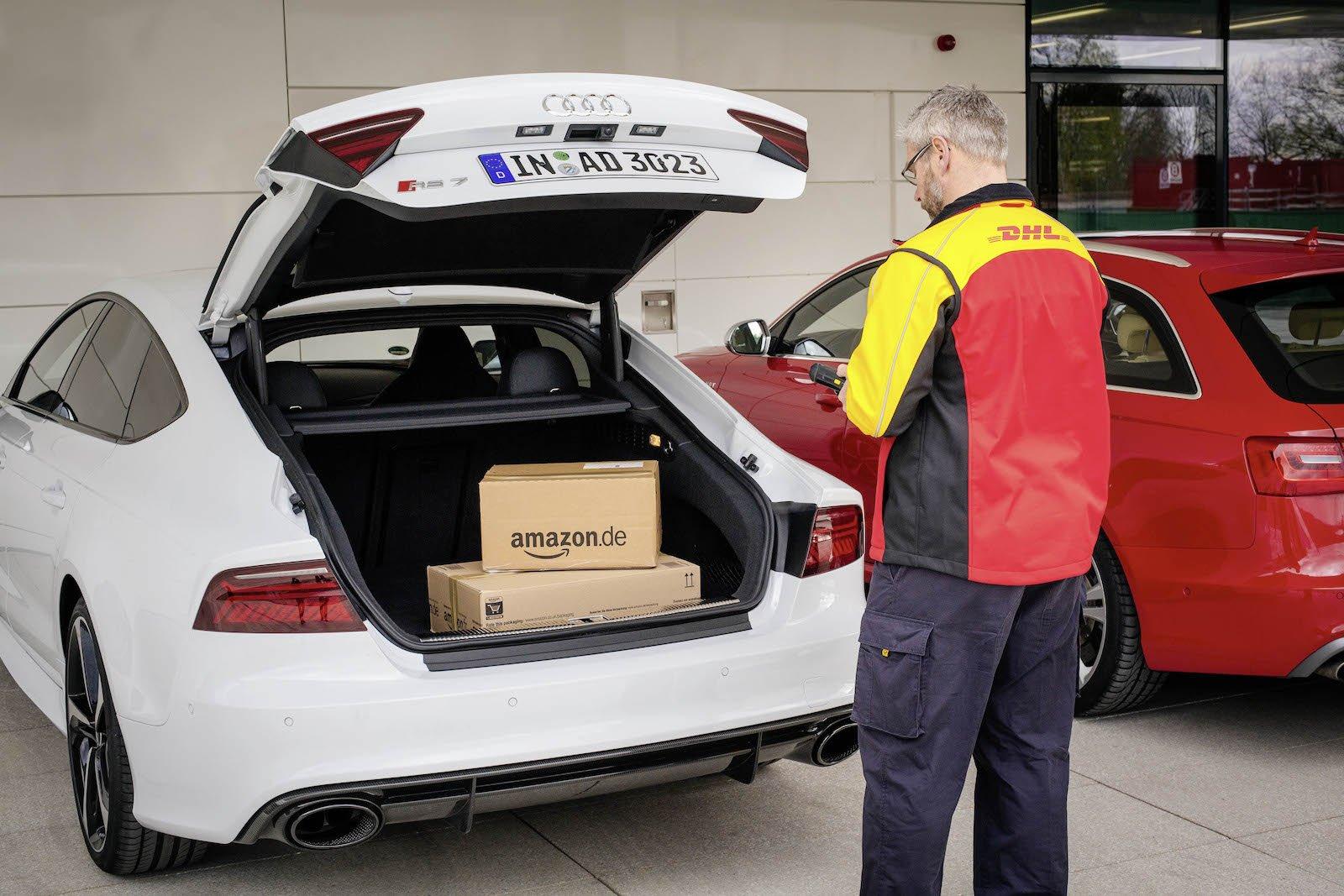 In dem Angebot, das eigene Auto als mobile Lieferadresse zu nutzen, sehen Amazon, DHL und Audi vor allem für Pendler eine attraktive Alternative.