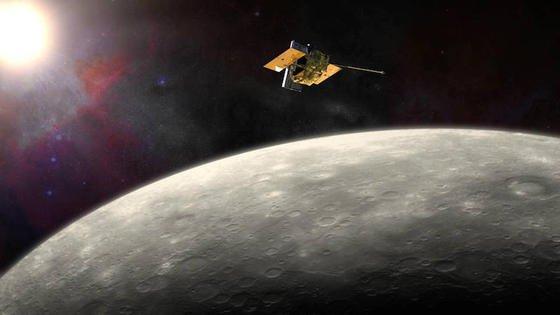 Forschungsobjekt und Grab zugleich: Mit letzter Kraft soll die Raumsonde Messenger Ende April auf dem Planeten Merkur abstürzen.