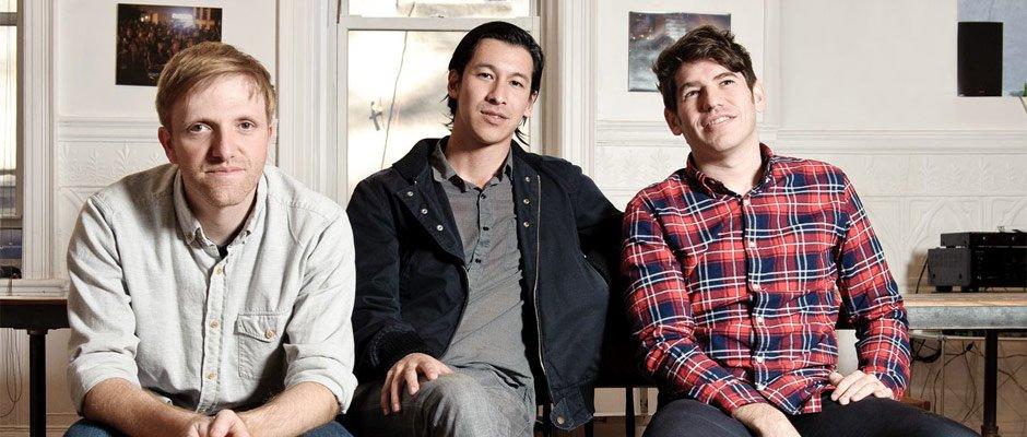 Gündeten vor sechs Jahren die Finanzierungsplattform Kickstarter: Charles Adler, Perry Chen und Yancey Strickler (v.l.).
