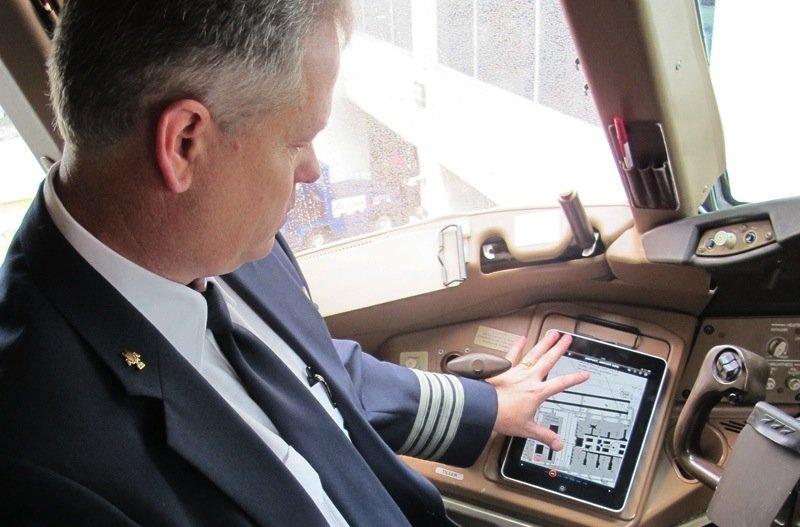 Der elektronische Flugzeugkoffer EFB enthält jede Menge Daten und Berechnungstools für den Piloten.