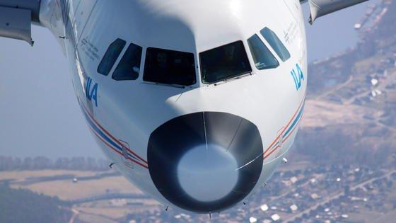 Die Testreihe mit 30 Langsamflügen mit dem umgebauten Airbus A 320 ATRA wurde über Braunschweig durchgeführt.