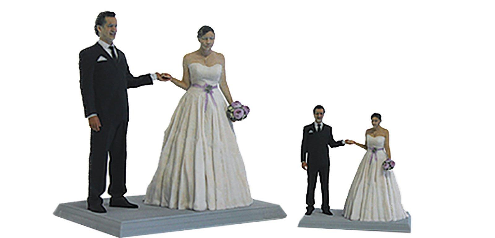 Macht was her: ein Brautpaar in 3D gedruckt.