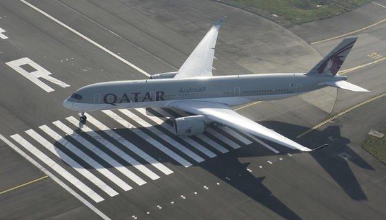 Airbus 350 XWB:Schon im Dezember 2014 erhielt Qatar Airways das Flugzeug, bei dem mehr als 1000 Teile mit dem 3D-Druck-Verfahren produziert wurden.