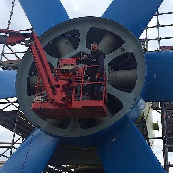 Der Rotor von Sabella D10 wird fixiert.
