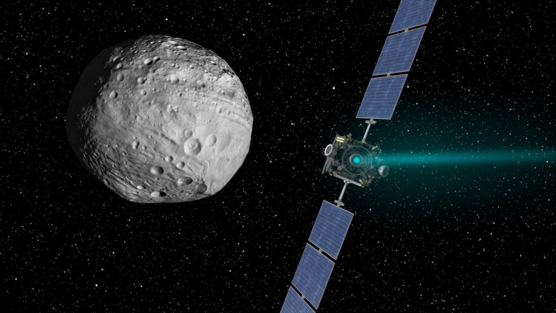Die NASA-Sonde Dawn besucht den Zwergplaneten Ceres. Entdeckt hat ihn der italienische Astronom Giuseppe Piazzi im Jahr 1801.