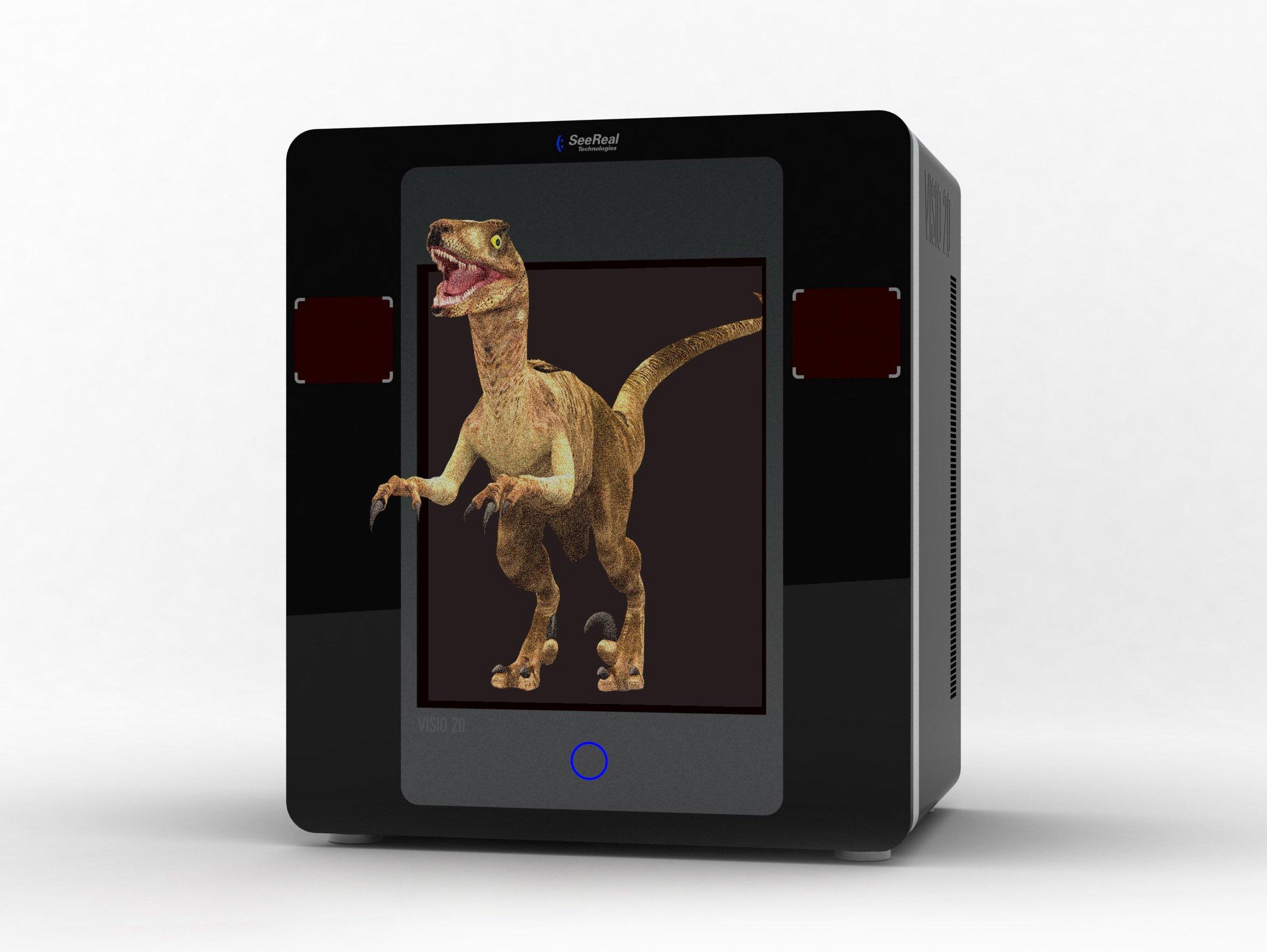 Der Dinosaurier will förmlich aus dem Bild springen.