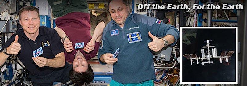 Sind weiterhin guter Dinge: Die ISS-AstronautenSamantha Christoforetti,Scott Kelly und Terry Virts.