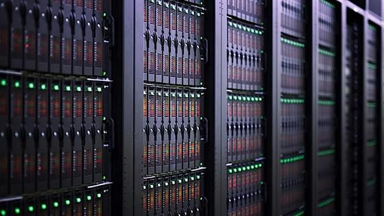 Blick auf den HRSK-II: Der Supercomputer rechnet mit rund 43 000 CPU-Kernen und speichert auf 2000 Festplatten.
