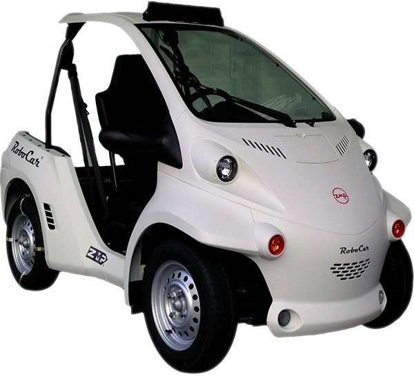 Das RoboCar gibt es schon heute für umgerechnet 15.000 Euro zu kaufen. Allerdings kann und darf es noch nicht völlig autonom fahren.