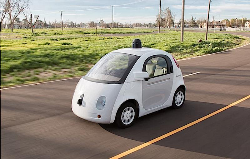 Im Google-Auto kommt deutsche Technik zum Einsatz: Motor und Fernbereichs-Radarsensor stammen von Bosch.