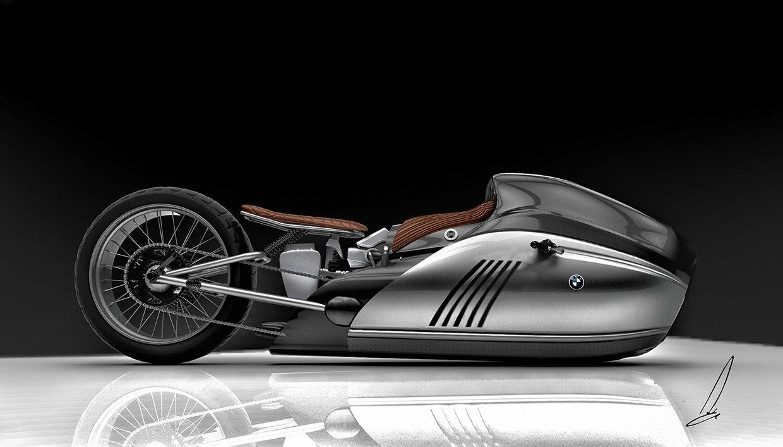 Skizze des BMW Alpha Concept: Genau wie die Alfa Romeo Spirito wird wohl auch dieses Motorrad im Entwurfstadium steckenbleiben.