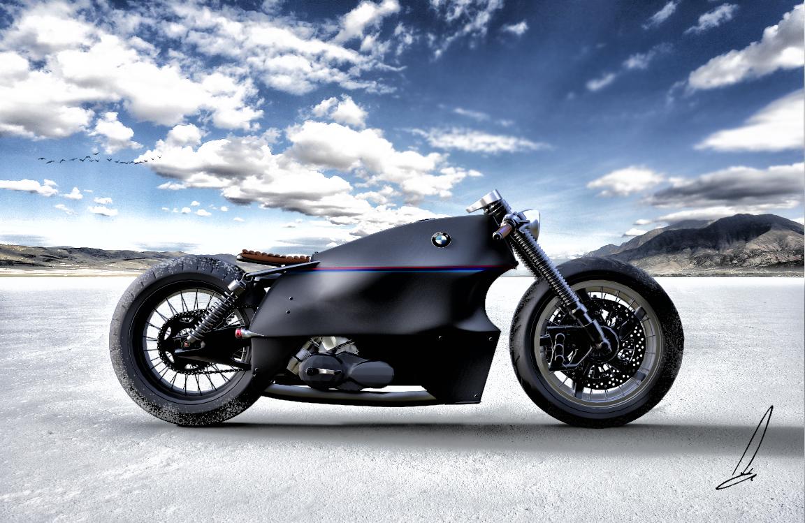 Modell der BMW Caliber: Die Maschine wirkt etwas realistischer und kommt einer Serienproduktion wahrscheinlich am nähesten.