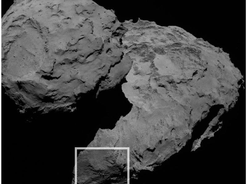 Steinformation auf Tschuri: Die Forscher rätseln derzeit, wie sie entstanden ist.