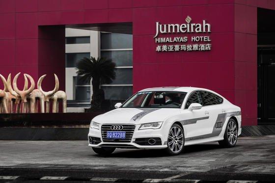 In einen marktreifen A7 Sportback hat Audi einenLaserscanner eingebaut, der dem autopilotierten Fahren dient. Auf der Consumer Electronics Show in Schanghai wurde er gezeigt.