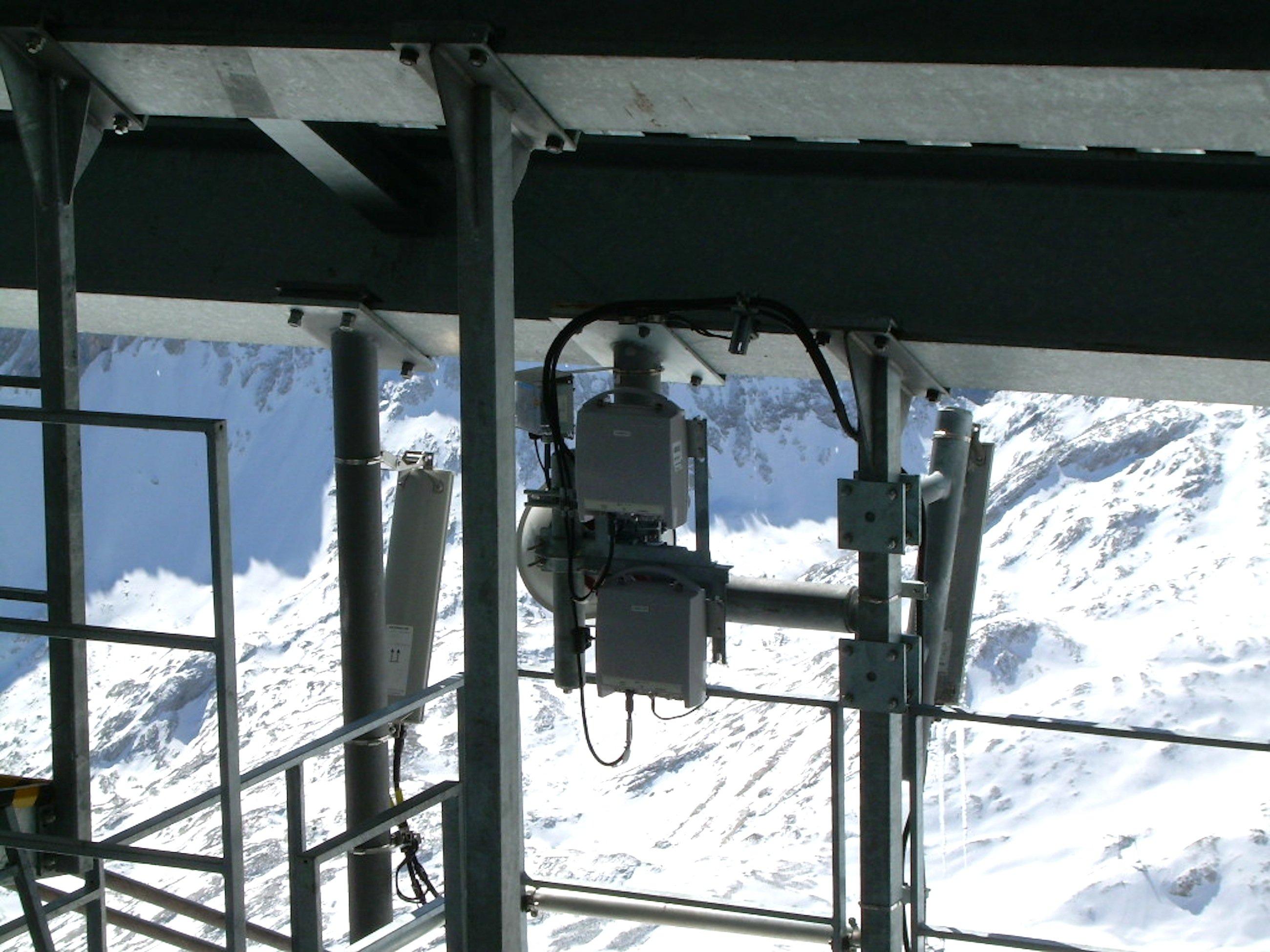 Die höchste LTE-Antenne der Bundesrepublik steht auf der Zugspitze.