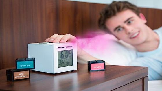 Duft statt Klingelton: Sensorwake-Erfinder Rolland will in Experimenten herausgefunden haben, dass sich Menschen so tatsächlich wecken lassen.