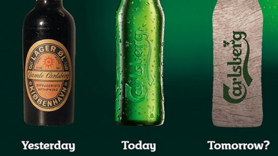 Evolution der Bierflasche: In der nächsten Entwicklungsstufe bestehen sie aus umweltfreundlichem Altpapier. Daran tüftelt die dänische Brauerei Carlsberg.