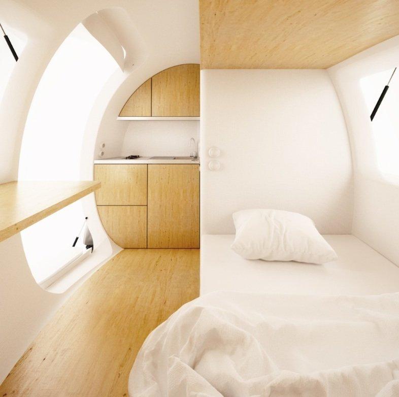 Das Ecocapsule bietet Komfort im Innern.